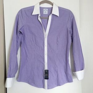 🍂 New! Brooks Brothers Purple Striped Button Down